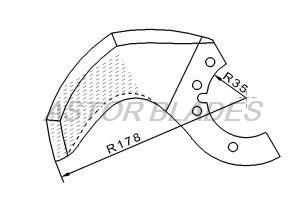 Bowl cutter blade for Delta Radius 178mm