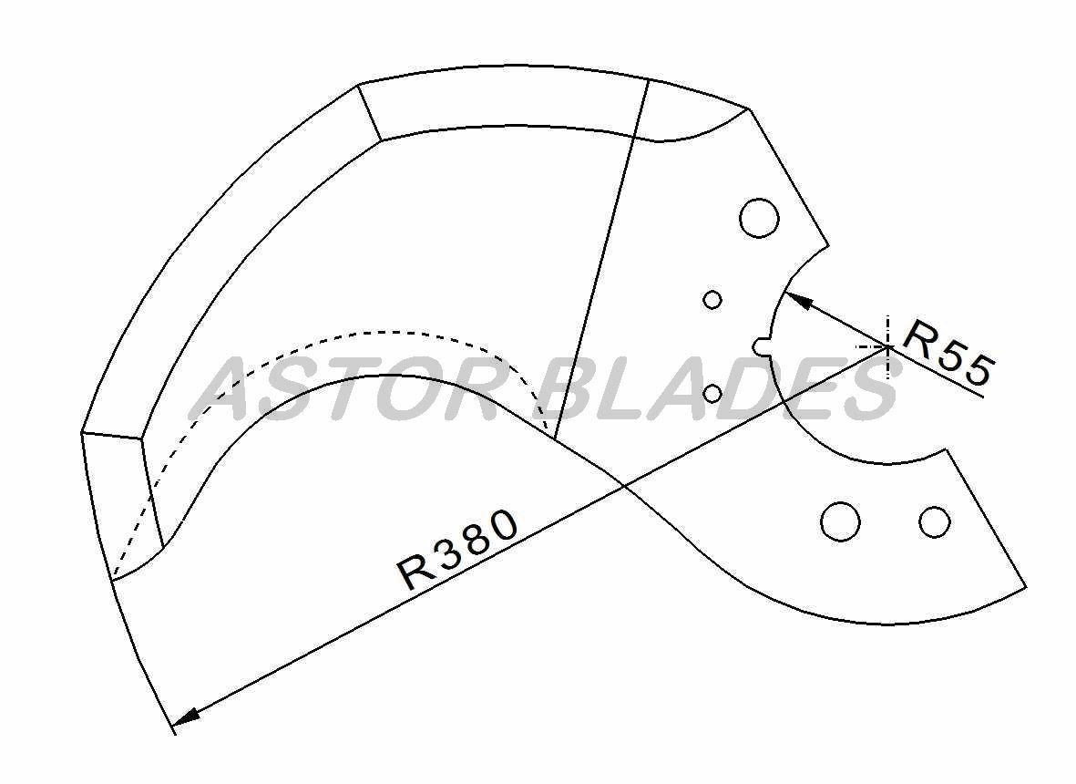 Bowl cutter blade for Delta Radius 380mm